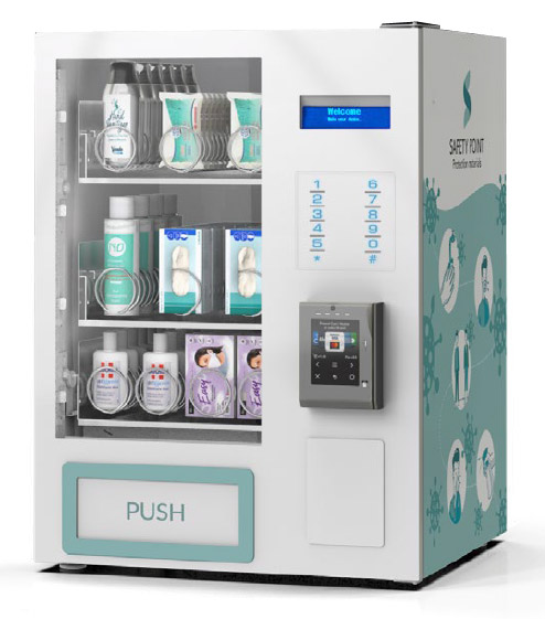 Safety Point PPE Vending - Face Mask Vending, Hand Sanitiser Vending, Glove Vending Machines