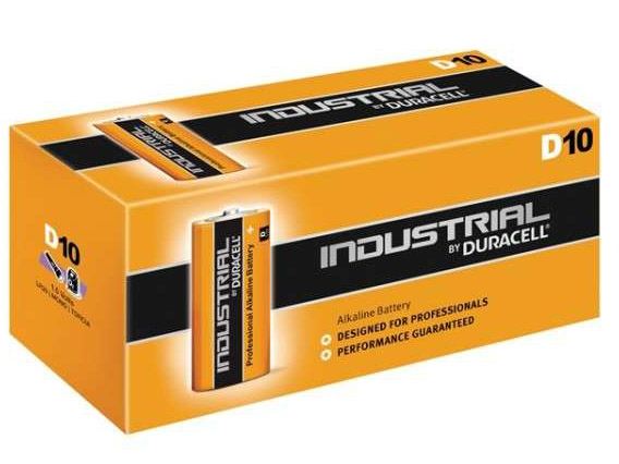 Duracell Industrial D Batteries (Box of 10)