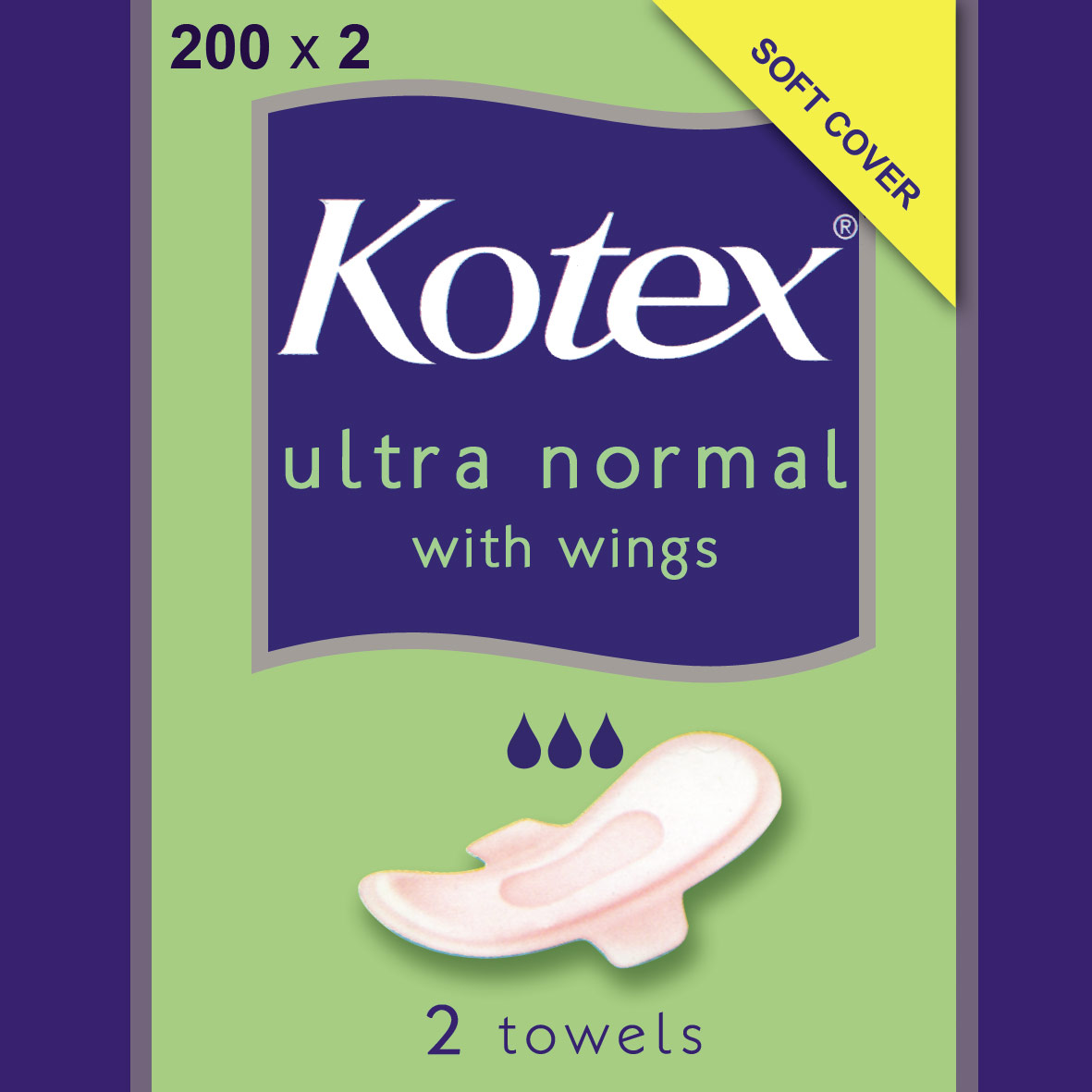 Kotex Ultra Plus Towels with Wings