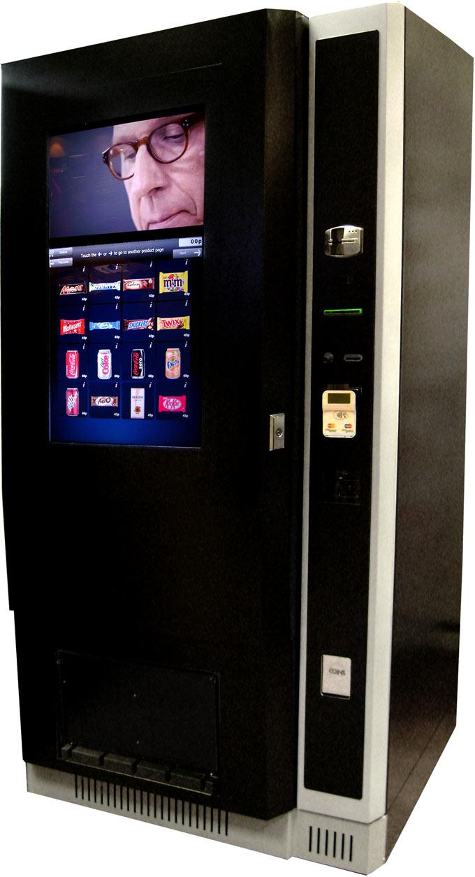 touch screen coke machine