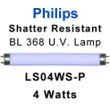 Philips Shatter Resistant 4w U.V. Lamp (LS04WS-P)