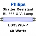 Philips Shatter Resistant 40w U.V. Lamp (LS39WS-P)