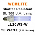 Wemlite Shatter Resistant E27 Screw 20w U.V. Lamp (LL20WS-W)