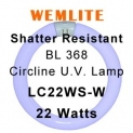 Wemlite Shatter Resistant 22w Circline UV Lamp