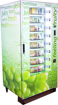 Westomatic Easy5000 8-Drum Vending Machine (Side View) -   Customised Graphics
