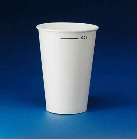 White 7oz Paper Cups - Flat Bottom