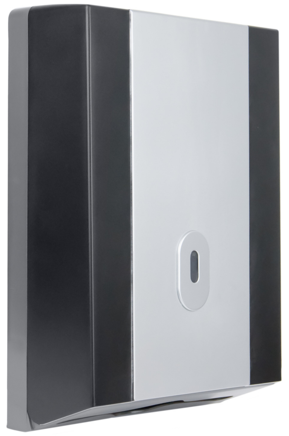 Black and Silver Paper Towel Dispenser