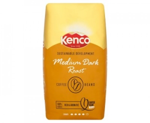 Kenco Sustainable Development Medium Dark Roast Coffee Beans (8 x 1 Kg)