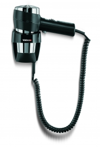 Valera Action Wall-Mounted 1600w Hair Dryer (Black and Chrome)