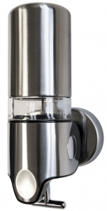 Lunar Single Soap Dispenser (grained stainless)