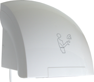 Magnum Chord 1500 Hand Dryer in white ABS