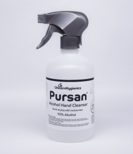 Pursan 500ml Alcohol Hand Cleanser 70% Alcohol Trigger Spray