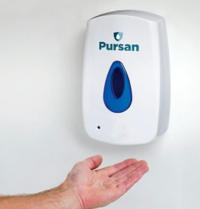 Pursan Automatic Hand Sanitiser Dispenser 1.2 Litre Refillable Reservoir (Touch Free)