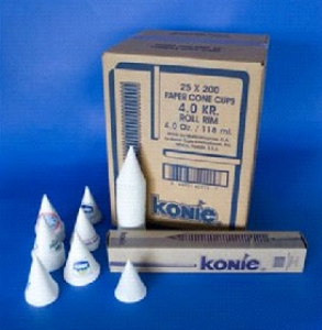 White Single Use 4oz Water Cooler Paper Cones