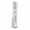 Pursan Pedal Operated Dispenser Stand White